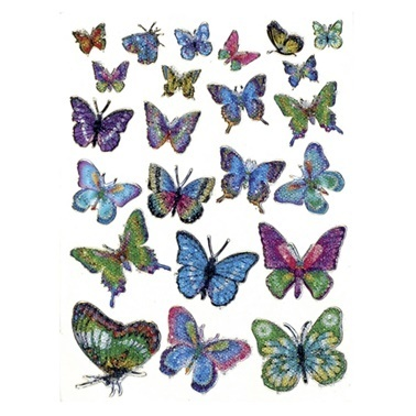 Herma Cocuk Etiketleri Kristal Kelebekler Renkli